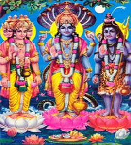 Lord Brahma, Vishnu and Shiva